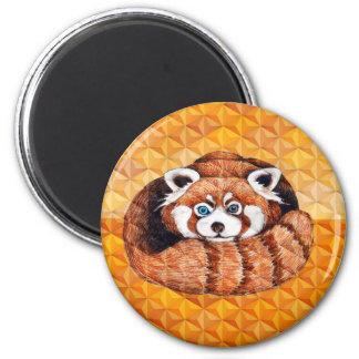 Imã Urso de panda vermelha no Cubism alaranjado