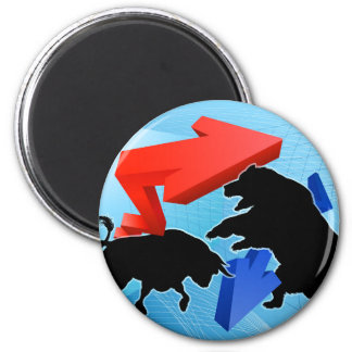 Imã Ursos contra o conceito do mercado de valores de