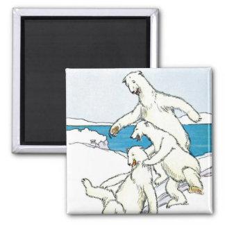 Imã Ursos polares engraçados do vintage