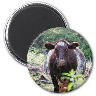 Imã Vaca de leiteria do Shorthorn que refrigera no ímã