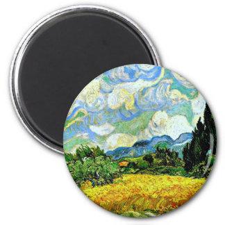 Imã Van Gogh: Campo de trigo com ciprestes