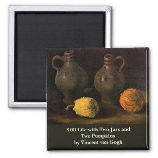 Imã Van Gogh, frascos e 2 abóboras, do vintage vida