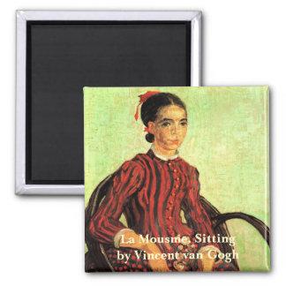 Imã Van Gogh, La Mousme, assento, retrato do vintage