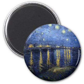 Imã Van Gogh: Noite estrelado sobre o Rhone