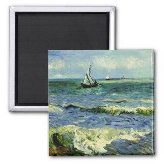 Imã Van Gogh - um barco de pesca no mar