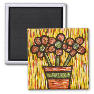 Imã Vaso abstrato brilhante das flores