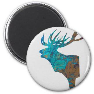 Imã veado principal dos cervos nos turquois
