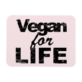 Ímã Vegan para a VIDA (preto)