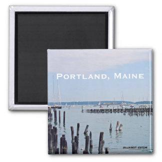 Imã Veleiros na costa do porto velho, Portland Maine