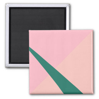 Imã Verde geométrico elegante do pêssego do rosa