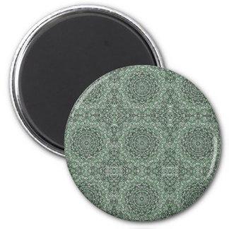Imã Verde ornamentado tribal do detalhe do emaranhado