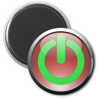 Ímã vermelho do botão do poder ímã redondo 5.08cm
