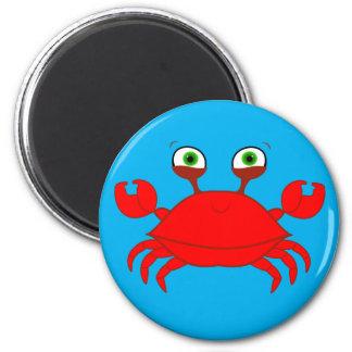 Ímã vermelho do caranguejo ímã redondo 5.08cm