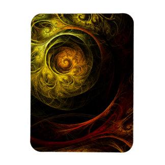 Ímã vermelho floral do prêmio da arte abstracta do