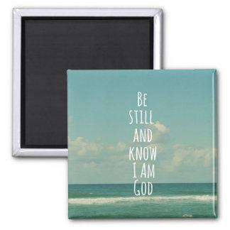 Imã Verso da bíblia: Seja ainda e saiba