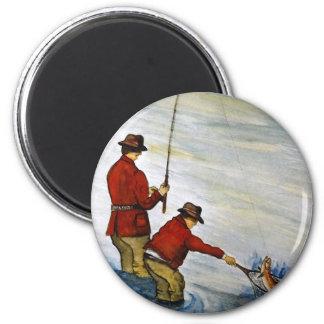 Imã Viagem de pesca do pai e do filho