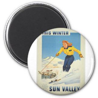 Imã Viagens vintage Sun Valley Idaho