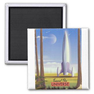 Imã Viaja o espaço retro art. do universo