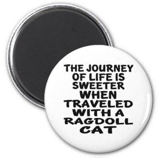 Imã Viajado com gato de Ragdoll