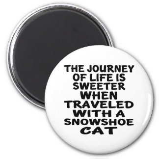 Imã Viajado com gato do sapato de neve