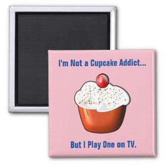 Imã Viciado engraçado do cupcake