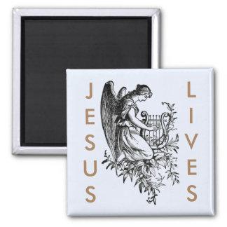 Imã Vidas e anjo de Jesus com harpa