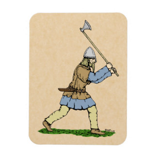 Ímã Viking que Wielding o Largo-Machado