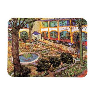 Ímã Vincent van Gogh - jardim do hospital em Arles