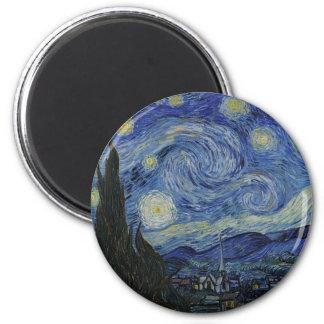 Imã Vincent van Gogh - noite estrelado. Pintura da