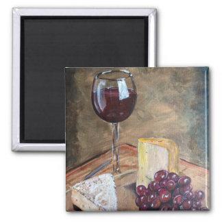 Imã Vinho e queijo