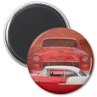 Imã Vintage branco vermelho de Dodge do Bel Air