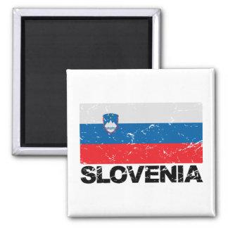 Imã Vintage da bandeira de Slovenia