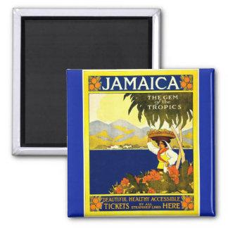 Imã Vintage Jamaica a gema do ímã dos trópicos