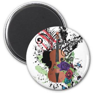 Imã Violino Illustration2 do Grunge