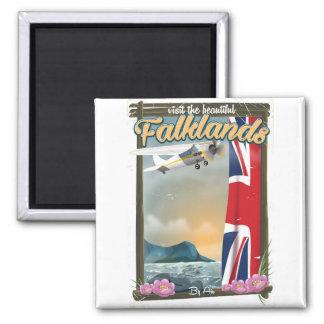 Imã Visite o poster de viagens bonito de Malvinas