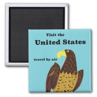 Imã Visite o poster de viagens de Estados Unidos