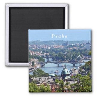 Imã Vista da cidade do castelo de Praga