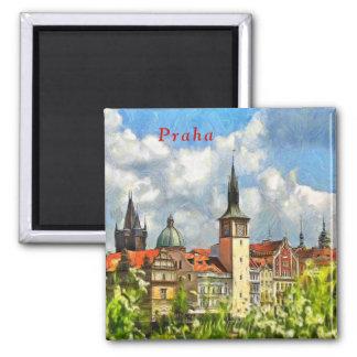 Imã Vista de Praga da ilha de Streletsky