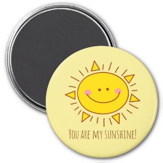 Imã Você é meu dia ensolarado do smiley bonito feliz