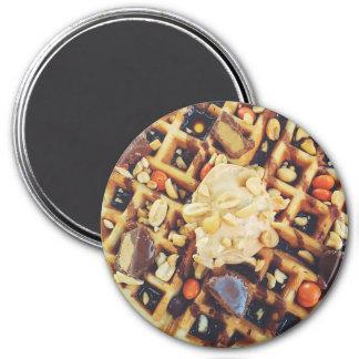 Imã Waffles saborosos com o ímã do refrigerador do