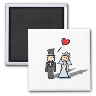 Ímã Wedding do casal Ímã Quadrado