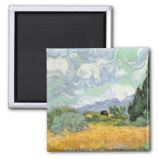 Imã Wheatfield com ciprestes, 1889 de Vincent van Gogh