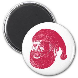 Imã Woodcut principal de Papai Noel