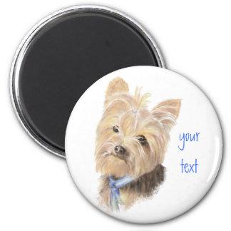 Imã Yorkie bonito, yorkshire terrier, cão, animal de
