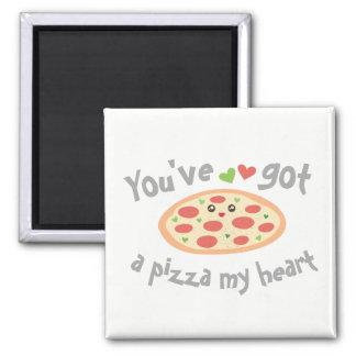 Imã You've obteve a uma pizza meu coração chalaça