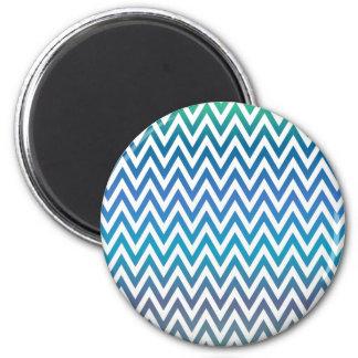 Imã ziguezague, colorido, engraçado, azul e verde