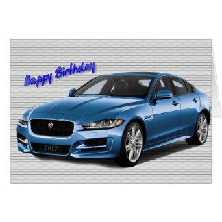 Imagem 2017 do carro para o cartão do aniversário