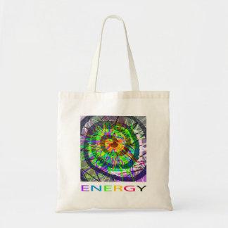 Imagem abstrata colorida brilhante da ENERGIA Sacola Tote Budget
