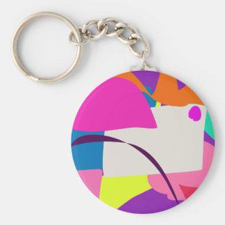 Imagem abstrata colorida chaveiro