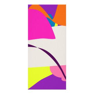 Imagem abstrata colorida 10.16 x 22.86cm panfleto